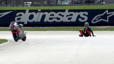 Indianapolis 2012 - Moto2 - FP2 - Action - Alessandro Andreozzi - Crash