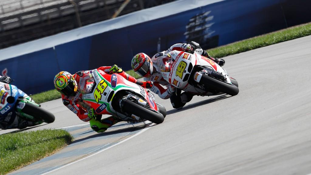 Valentino Rossi, Alvaro Bautista, Ducati Team, San Carlo HOnda Gresini, Indianapolis FP1