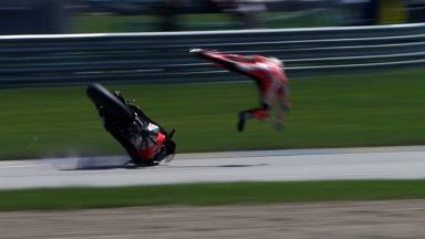 Indianapolis 2012 - MotoGP - QP - Action - Nicky Hayden - Crash