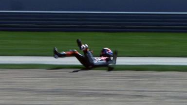 Indianapolis 2012 - MotoGP - QP - Action - Casey Stoner - Crash