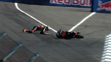 Indianapolis 2012 - Moto3 - FP3 - Action - Niklas Ajo - Crash