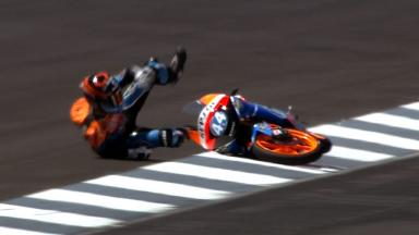 Indianapolis 2012 - Moto3 - QP - Action - Miguel Oliveira - Crash