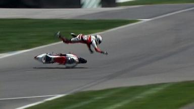 Indianapolis 2012 - Moto3 - QP - Action - Danny Webb - Crash