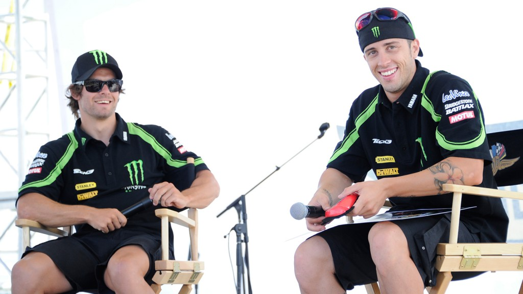 Cal Crutchlow, Andrea Dovizioso, Monster Yamaha Tech 3, Riders For Health, Indianapolis
