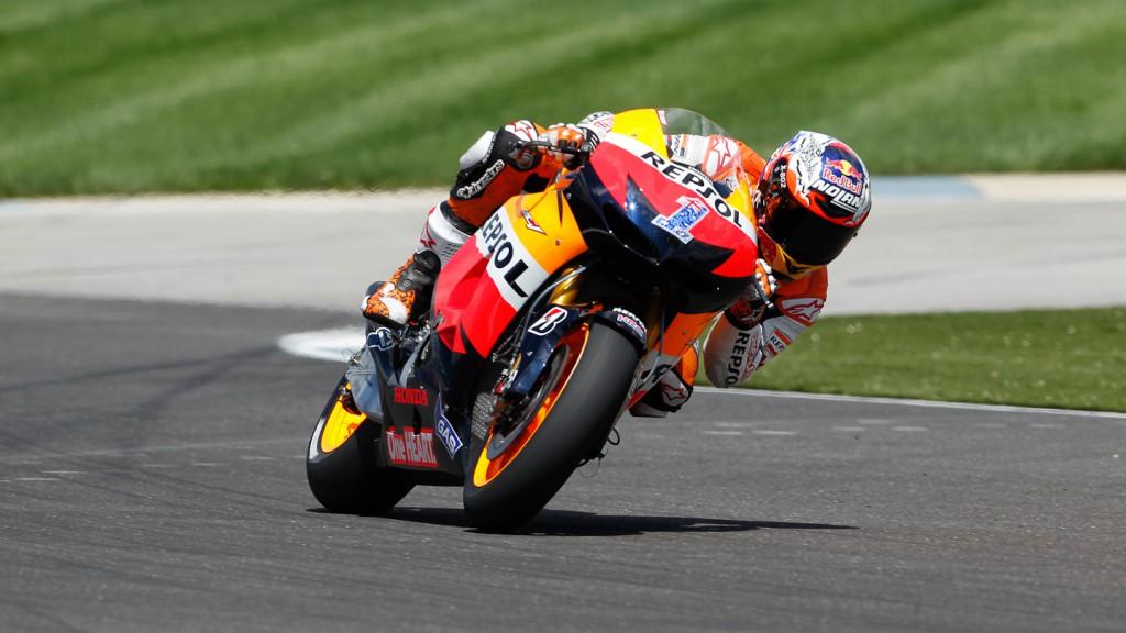 Casey Stoner, Repsol Honda Team, Indianapolis FP3