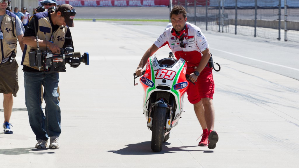 Nicky Hayden bike, Ducati Team, Indianapolis QP