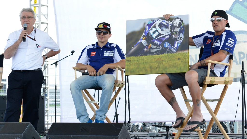 Jorge Lorenzo, Ben Spies, Yamaha Factory Racing, Riders For Health Indinapolis