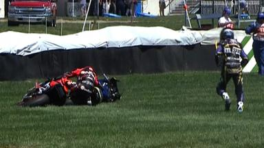 Indianapolis 2012 - Moto2 - Race - Action - Simeon and De Angelis - Crash