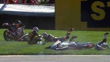 Indianapolis 2012 - Moto3 - Race - Action - Multiple Crash