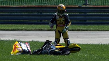 Indianapolis 2012 - Moto3 - Race - Action - Efren Vazquez - Crash