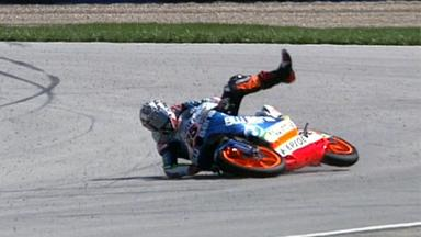 Indianapolis 2012 - Moto3 - Race - Action - Maverick Viñales - Crash