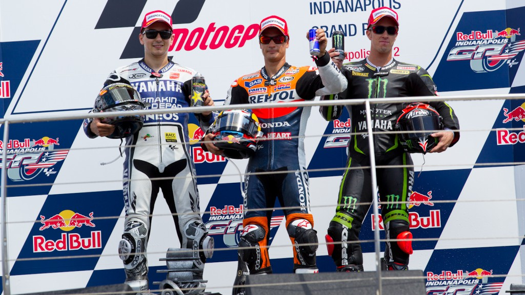 Lorenzo, Pedrosa, Dovizioso, Yamaha Factory Racing, Repsol Honda Team, Monster Yamaha Tech 3, Indianapolis RAC