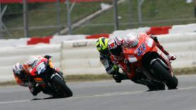Casey Stoner took his fourth victory of the 2007 season this afternoon at the Gran Premi Cinzano de Catalunya after an immense battle with Fiat Yamaha's Valentino Rossi, in front of a crowd of more than 110,000 spectators at Barcelona - with local hero Dani Pedrosa finishing a close third.