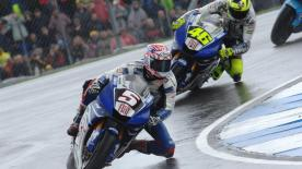 In a dramatic MotoGP contest which started in wet conditions at Donington Park, Casey Stoner took his fifth 
