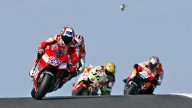 Ducati Marlboro's newly crowned World Champion Casey Stoner delighted the home crowd at Phillip Island with a superb ride to victory by seven seconds at the GMC Australian Grand Prix.
