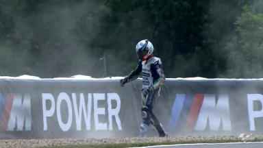 Brno 2012 - MotoGP - FP1 - Action - Yonny Hernandez - Crash