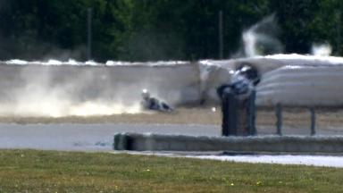 Brno 2012 - Moto2 - FP1 - Action - Claudio Corti - Crash