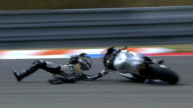 Brno 2012 - Moto2 - FP2 - Action - Thomas Luthi - Crash