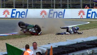 Brno 2012 - Moto2 - FP2 - Action - Axel Pons - Crash