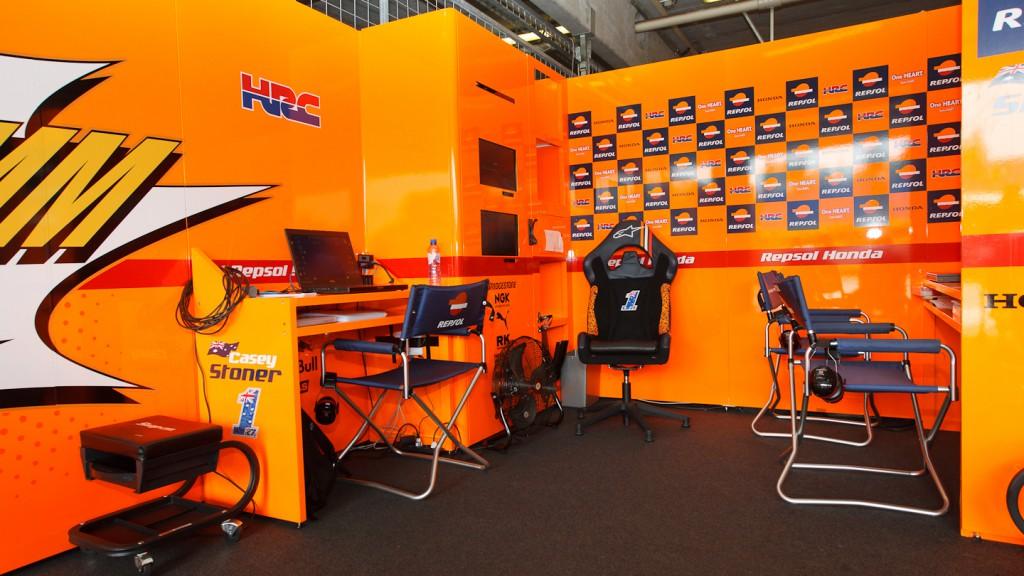 Casey Stoner Garage, Repsol Honda Team, Brno
