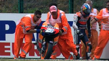Brno 2012 - MotoGP - QP - Action - Dani Pedrosa - Crash