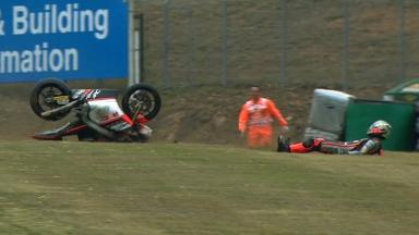 Brno 2012 - Moto2 - FP3 - Action - Alessandro Andreozzi - Crash