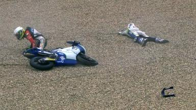 Brno 2012 - Moto3 - QP - Action - Binder and Pedone - Crash