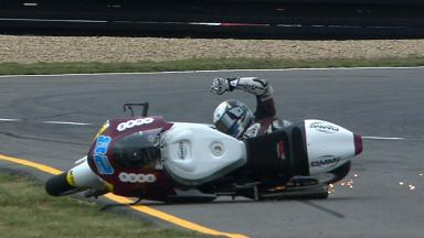 Brno 2012 - Moto2 - FP3 - Action - Elena Rosell - Crash
