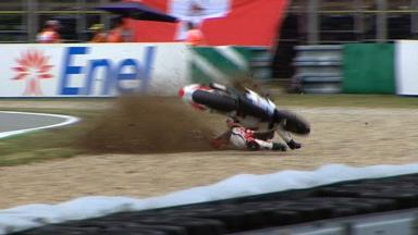 Brno 2012 - Moto2 - QP - Action - Gino Rea - Crash