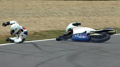 Brno 2012 - Moto3 - QP - Action - Romano Fenati - Crash