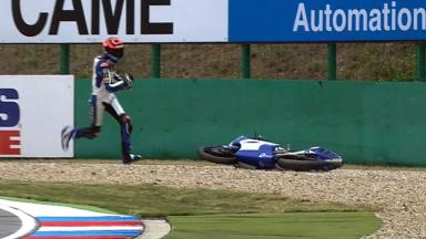 Brno 2012 - Moto3 - QP - Action - Alex Marquez - Crash