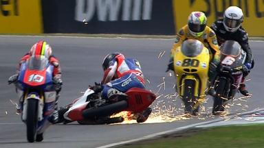 Brno 2012 - Moto3 - Race - Action - Miroslav Popov - Crash