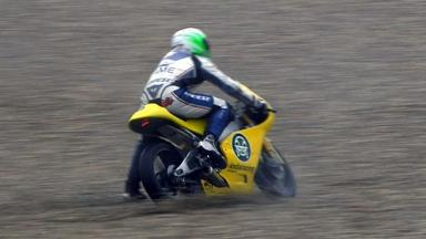 Brno 2012 - Moto3 - Warm Up - Action - Luigi Morciano - Crash
