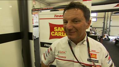 Gresini on 2013 plans and Brno test