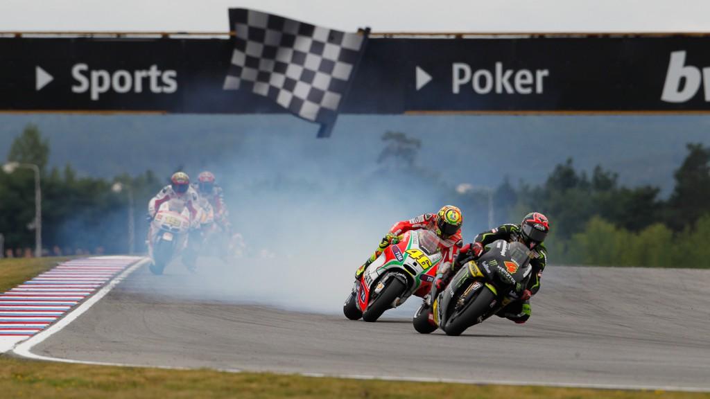 Andrea Dovizioso, Valentino Rossi, Monster Yamaha Tech 3, Ducati Team, Brno RAC