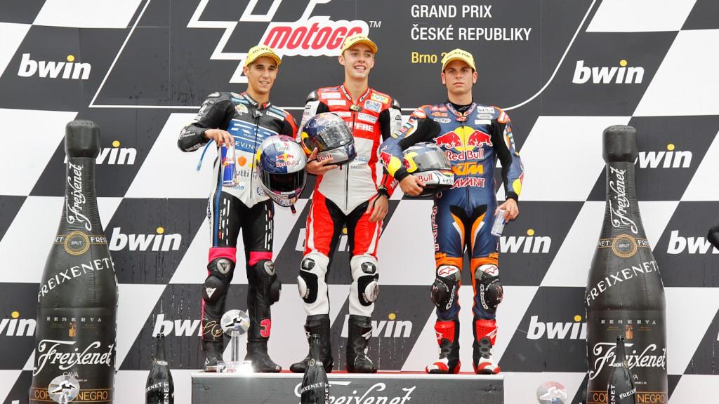 Salom, Folger, Cortese, RW Racing GP, Mapfre Aspar Team Moto3, Red Bull KTM Ajo, Brno RAC