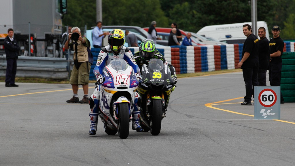 Karel Abraham, Cal Crutchlow, Cardion AB Motoracing, Monster Yamaha Tech 3, Brno RAC