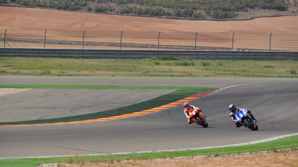 Jonathan Rea, Repsol Honda Team & Ben Spies, Yamaha Factory Racing - Aragon MotoGP Test