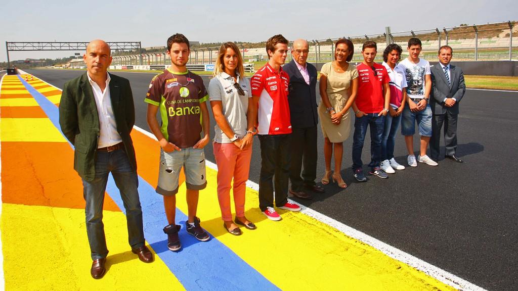 Carmelo Ezpeleta with Moto2 & Moto3 riders - Circuit Ricardo Tormo de la Comunidad Valenciana