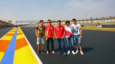 Nico Terol, Héctor Faubel, Elena Rosell, Adrián Martín, Julián Miralles Jr. - Circuit Ricardo Tormo de la Comunidad