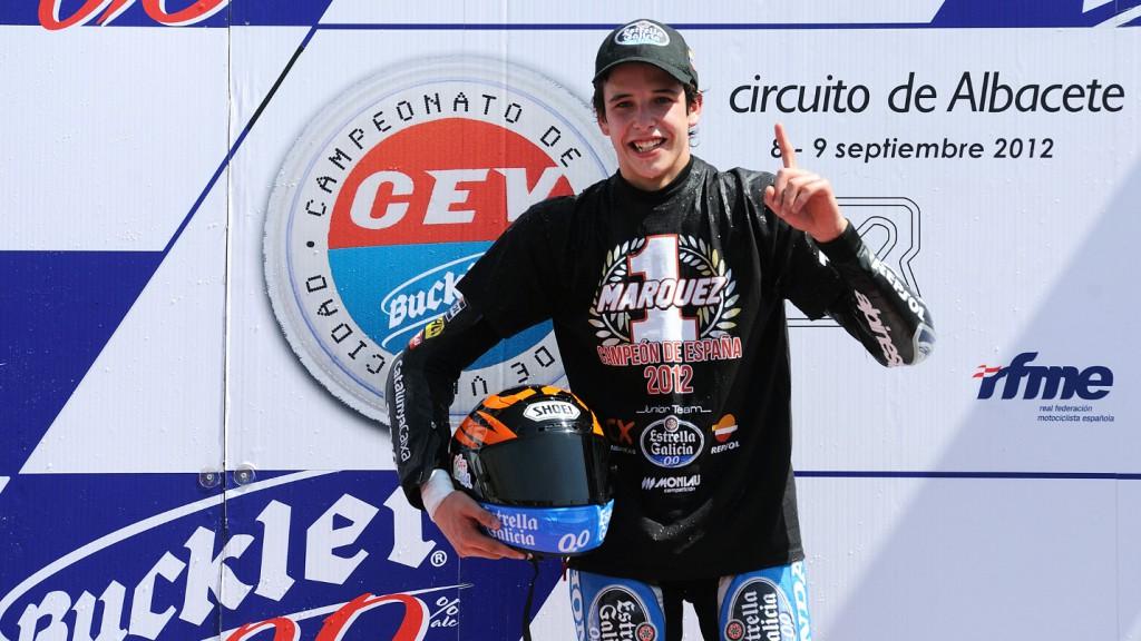 Alex Marquez, Monlau Competicion, Podium CEV Albacete2 2012