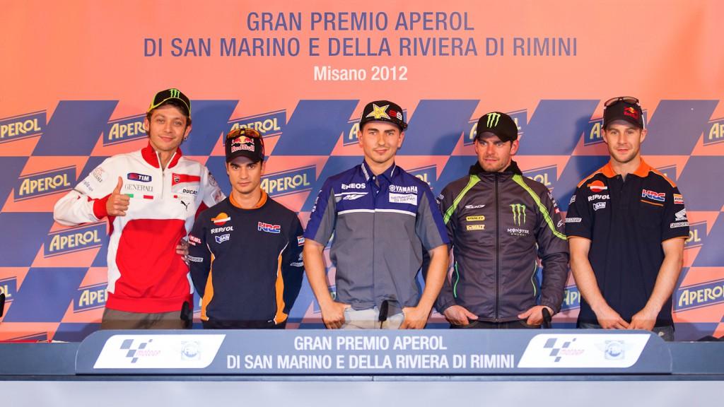 Rossi, Pedrosa, Lorenzo, Crutchlow, Rea, GP Aperol di San Marino e Della Riviera di Rimini