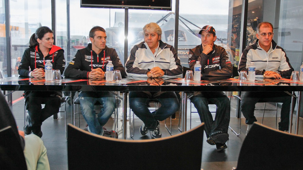 NGM Mobile Forward Racing Team 2013 Moto2 & MotoGP line-up press conference