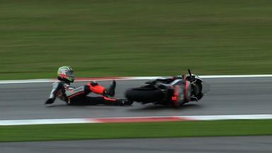 Misano 2012 - Moto2 - FP1 - Action - Alessandro Andreozzi - Crash