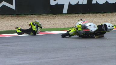 Misano 2012 - Moto2 - FP1 - Action - Andrea Iannone - Crash