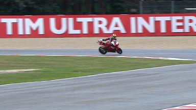 Misano 2012 - Moto2 - FP1 - Action - Steven Odendaal - Crash