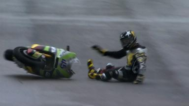 Misano 2012 - Moto2 - FP1 - Action - Scott Redding - Crash