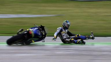 Misano 2012 - Moto2 - FP1 - Action - Bradley Smith - Crash