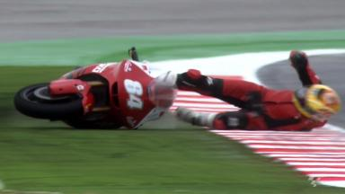 Misano 2012 - Moto2 - FP2 - Action - Steven Odendaal - Crash