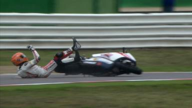 Misano 2012 - Moto2 - FP2 - Action - Gino Rea - Crash